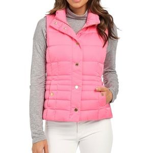 Lilly Pulitzer Isabelle Puffer Vest Pink - XS